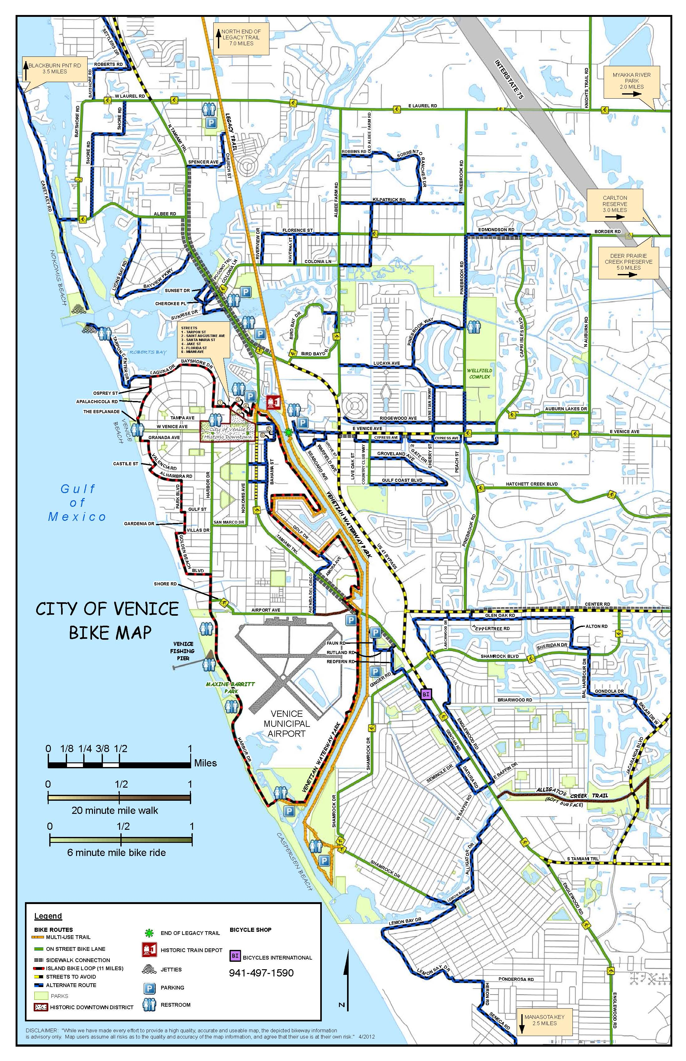 Map Of Venice Florida.Bicycles International Bike Sales Repair Venice Florida